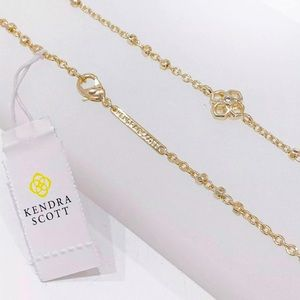 🆕KENDRA SCOTT Rue Long Station Necklace in Gold